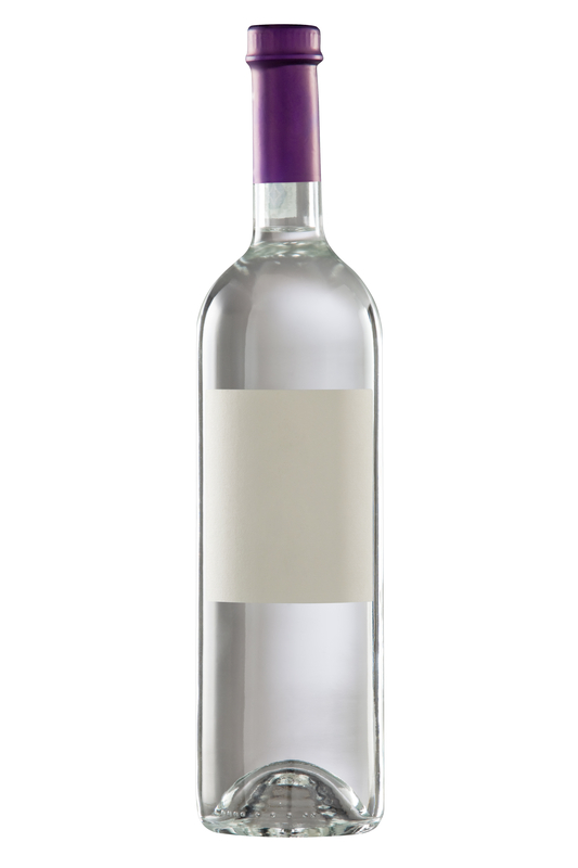 Bottle isolated with blank label for your text or logo.Clipping path included